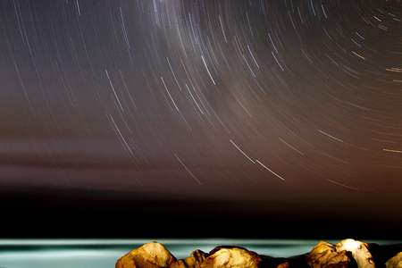 star: Star time laps