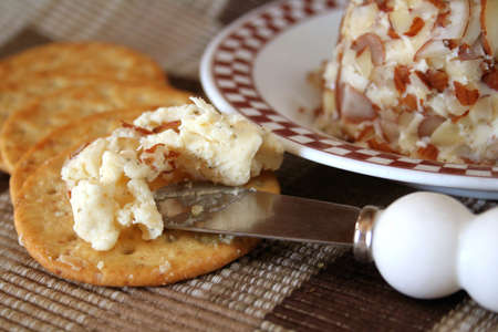Cheese ball with crackers. Stock Photo - 2191591