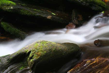 rushing water: rushing water along a creek Stock Photo
