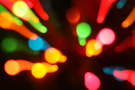 abstract of blurred zoomed  lights