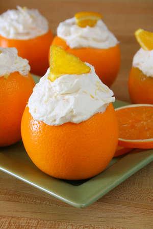 Orange Chantilly Cream made with fresh ripe oranges.