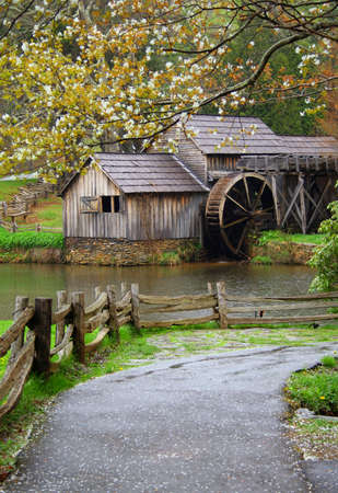 ridge: Spring at Mabrys Mill on the Blue Ridge Parkway.