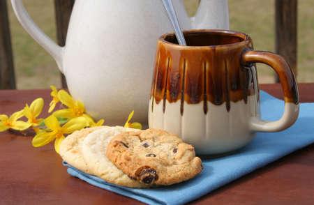 Home made cookies met koffie