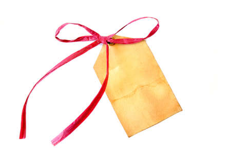 A blank gift tag that is grungy looking. Stock Photo - 3097795