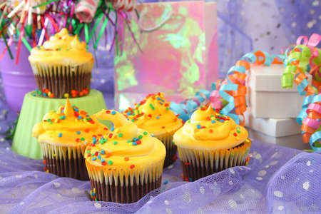 Cupcakes at a birthday party or event. Stock Photo - 3416112