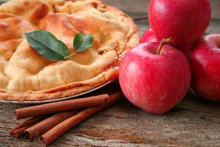 A fresh baked homemade apple pie.