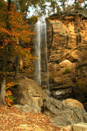 waterfall from north Georgia during Autumn.