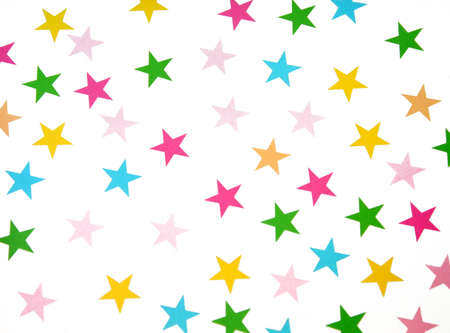 Different colored stars on a white background. Stock Photo - 5875732