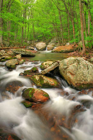 Beautiful creek right after a Spring rain with lots of boulders. HDR image. Stock Photo - 7022166