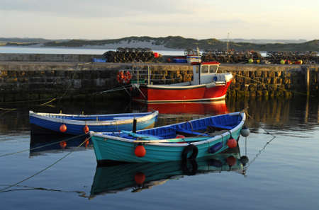 Beadnell Harbour. Englands only west facing harbour on the east coast of England photo