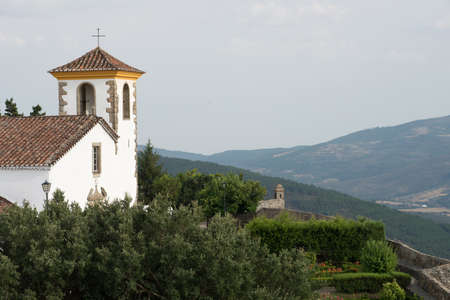 The Church of Santa Maria looks out over the countryside around the medieval town of Marvao