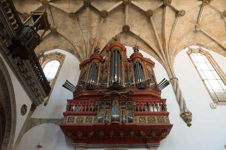The baroque organ in the Mosteiro de Cruz, Coimbra.