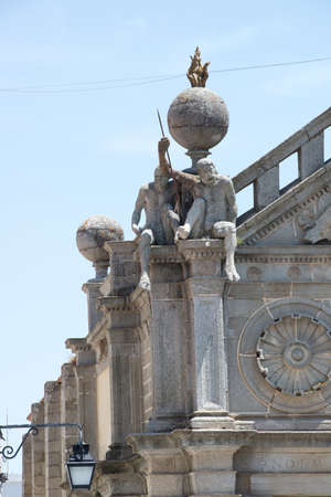A detail from the top of the faade of the Church of Nossa Senhora da Graa