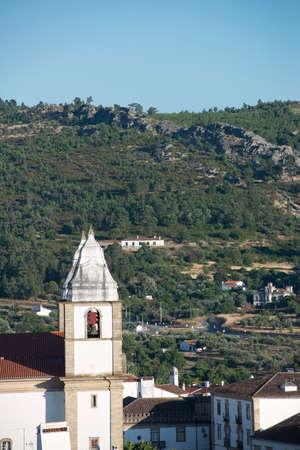 The church steeples of the Church of Santa Maria da Devesa in the Alentejo city of Castelo de Vide