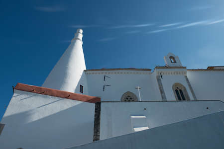 The National Palace of Sintra, with ict iconic chimneys, Was formerly a summer home for royalty. Sintra, Portugal. Editorial