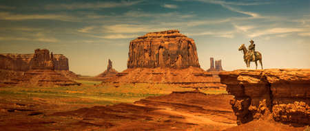Cowboy at Monument Valley