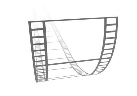 Illustration of a strip of curled transparent film