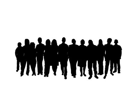 Crowd on a white background photo