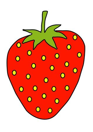 missive: Illustration of a large strawberry