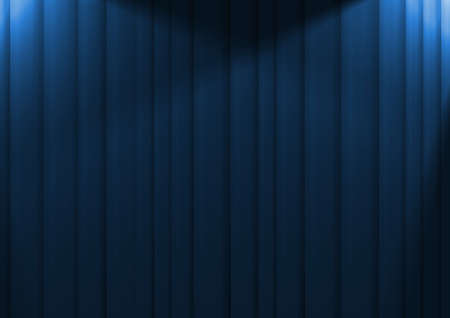 limelight: Illustration of blue curtains lit by two spotlights