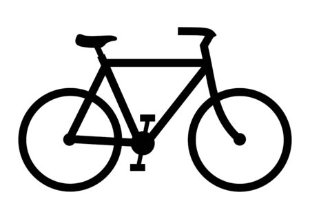 Illustration of a black bicycle on a white background Stock Photo