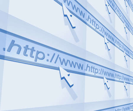 illustrierte: Illustrierte Internet-Browser Wand-und Zeigern