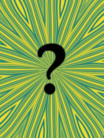 Question mark on funky yellow and green background Stock Photo - 2221236