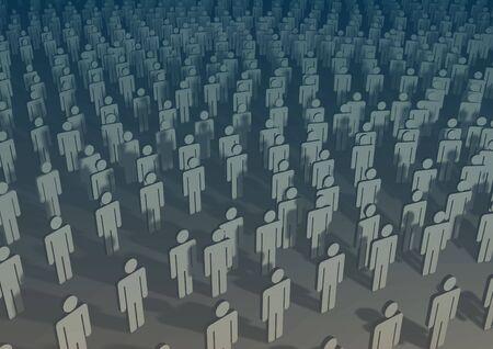 mucha gente: Ilustraciones de mucha gente