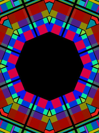 Illustrated Frame that looks like stained glass Stock Photo - 2450137