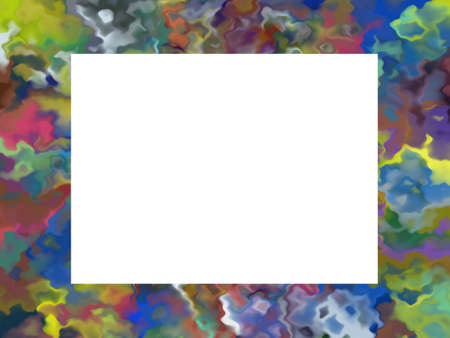 Colorful frame with a white insert Stock Photo - 2450111