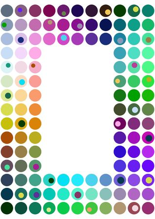 picture framing: Frame of multi colored dots