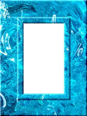 A frame of blue liquid gel Stock Photo