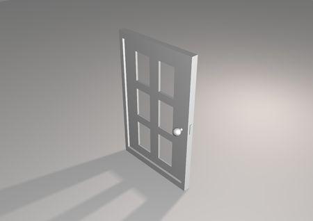 simplistic: Simplistic illustrated grey door with shadow