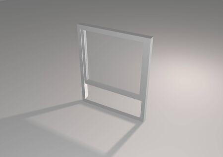 simplistic: Simplistic illustrated grey window with shadow