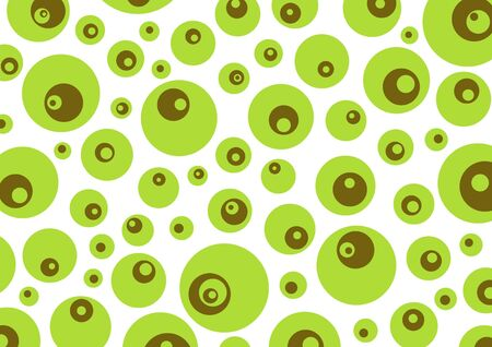 jumble: Green and brown retro circles background Stock Photo