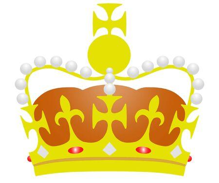 royal: Illustration of a Royal Crown Stock Photo