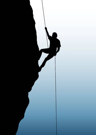 adrenaline: Illustration of person rock climbing