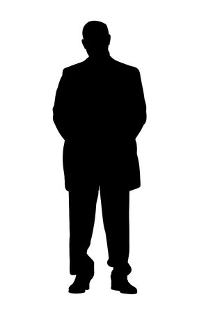 gaffer: Illustration of a silhouette businessman Stock Photo