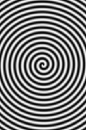 hypnotise: Twisted black and white stripes turning into the middle of the image