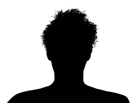 Illustrated person with messy hair Stock Photo
