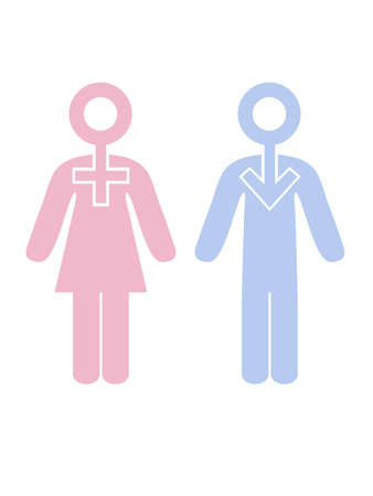 female & male symbols Stock Photo - 2694782