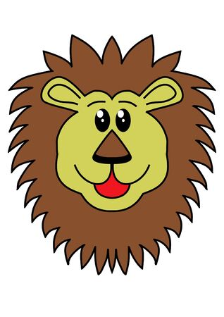 Illustration of a lions head illustration