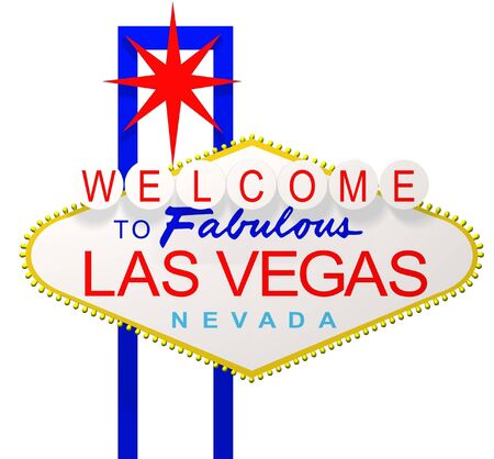 las vegas lights: 3D render of the sign Welcome to fabulous Las Vegas Nevada