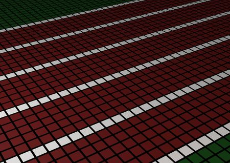 Race track perspective view made of squares Stock Photo - 2710969