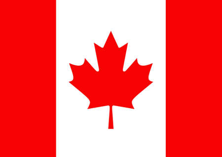 canadian flag: Illustrated flag of Canada