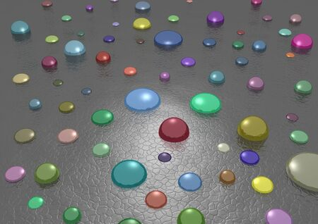 Illustrated colored mirror spheres on a textured surface Stock Photo - 2730044