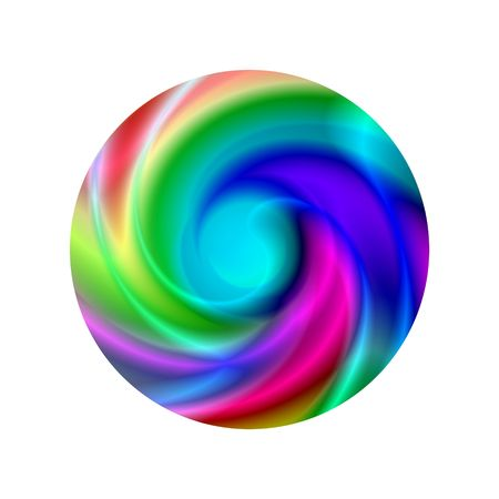 chromatic colour: Multi colored disc on a white background