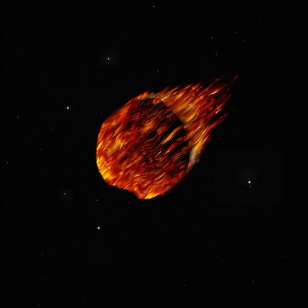 doomed: illustration of a Comet in space