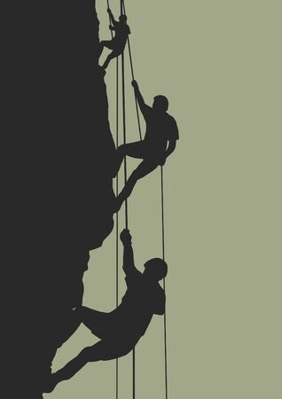 adrenaline: Illustration of people climbing mountain