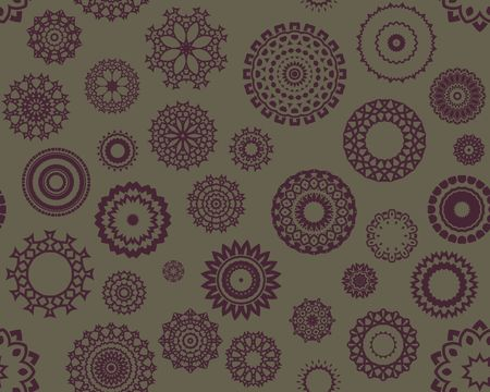 Abstract seamless background containing lots of kaleidoscopic shapes Stock Photo - 2752172